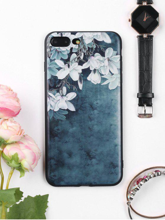 Cassa molle del telefono mobile di modello di fiori per Iphone - Blu Inchiostro  PER IPHONE 7 PLUS