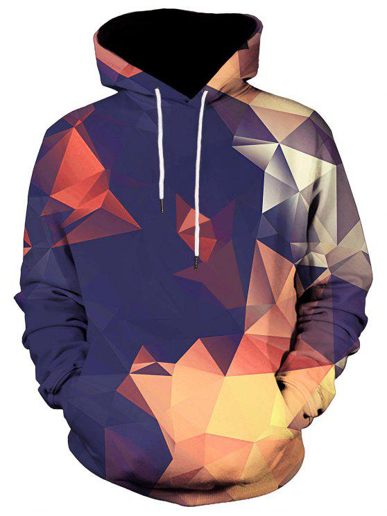 الكنغر جيب هندسي المطبوعة هوديي - Colormix M