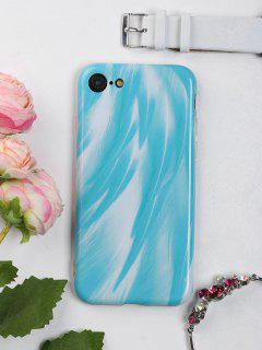 Feather Pattern Phone Case For Iphone - Lake Blue For Iphone 7