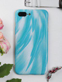 Feather Pattern Phone Case For Iphone - Lake Blue For Iphone 7 Plus