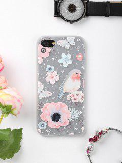 Flowers Bird Pattern Phone Case For Iphone - For Iphone 7