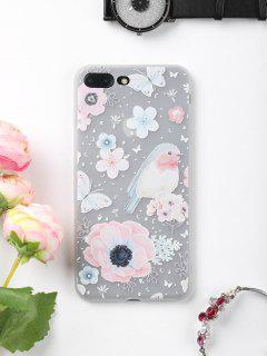 Flowers Bird Pattern Phone Case For Iphone - For Iphone 7 Plus