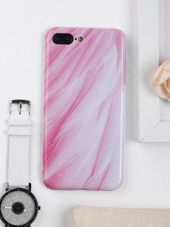 Feathers Pattern Phone Case For Iphone - Pink For Iphone 7 Plus