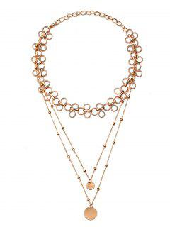 Collier Multicouches En Alliage De Perles En Alliage - Or