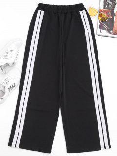 Slit Side Stripe Pants - White L