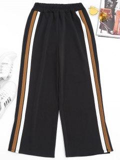 Pantalones Cortos Con Franjas Laterales - Marrón Claro L