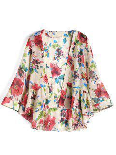 Ruffle Floral Kimono - Floral L