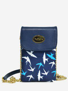 Colour Block Chain Mini Crossbody Bag - Deep Blue