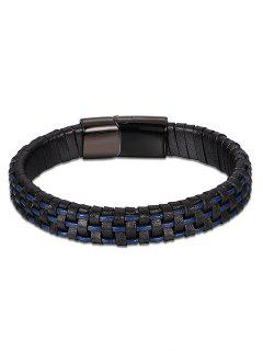 Cool Artificial Leather Bracelet - Blue