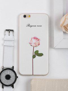 Rose Flower Pattern Phone Case For Iphone - White For Iphone 6 / 6s