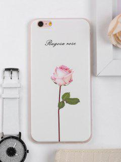 Rose Flower Pattern Phone Case For Iphone - White For Iphone 6 Plus / 6s Plus