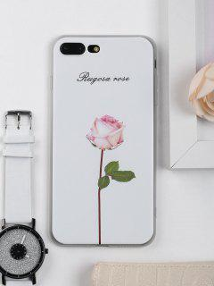 Rose Flower Pattern Phone Case For Iphone - White For Iphone 7 Plus