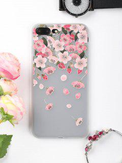 Flowers Petals Pattern Phone Case For Iphone - Pink For Iphone 7 Plus
