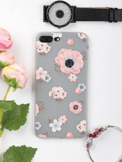 Floral Pattern Phone Case For Iphone - Pink For Iphone 7 Plus