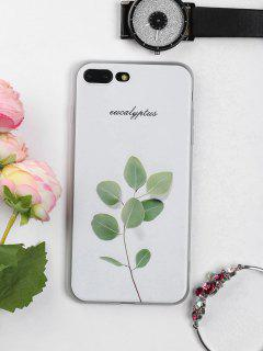 Branch Leaf Pattern Phone Case For Iphone - White For Iphone 7 Plus