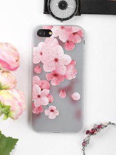 Peach Flower Pattern Phone Case For Iphone - Pink For Iphone 7