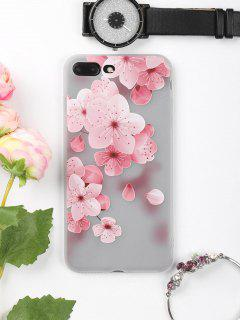 Peach Flower Pattern Phone Case For Iphone - Pink For Iphone 7 Plus