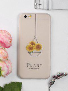 Sunflower Pattern Phone Case For Iphone - Clear White For Iphone 6 / 6s
