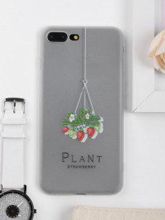 Strawberry Pattern Phone Case For Iphone - Clear White For Iphone 7 Plus