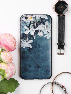 Flowers Pattern Soft Phone Case For Iphone - Ink Blue For Iphone 6 / 6s