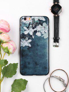 Flowers Pattern Soft Phone Case For Iphone - Ink Blue For Iphone 6 Plus / 6s Plus