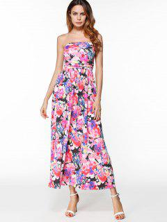 Maxi Print Bandeau Dress - Floral Xl