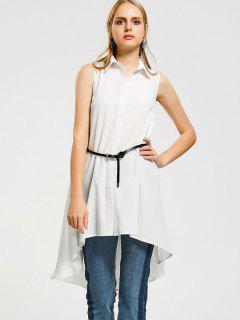 Chemise Haute Basse Longue Sans Manches - Blanc S