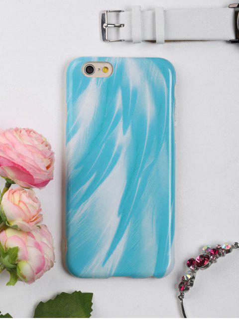affordable Feather Pattern Phone Case For Iphone - LAKE BLUE FOR IPHONE 6 / 6S Mobile