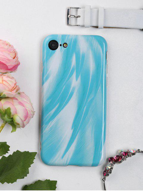 womens Feather Pattern Phone Case For Iphone - LAKE BLUE FOR IPHONE 7 Mobile