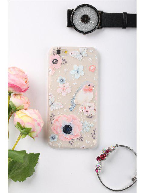 online Flowers Bird Pattern Phone Case For Iphone - COLORMIX FOR IPHONE 6 / 6S Mobile