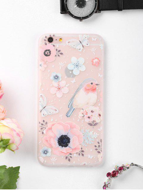 new Flowers Bird Pattern Phone Case For Iphone - COLORMIX FOR IPHONE 6 PLUS / 6S PLUS Mobile