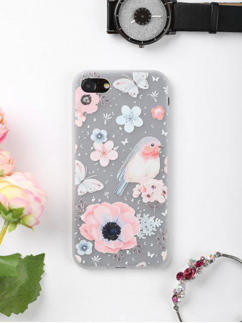 Blumen-Vogel-Muster-Telefon-Kasten für Iphone - COLORMIX  FÜR IPHONE 7 Mobile
