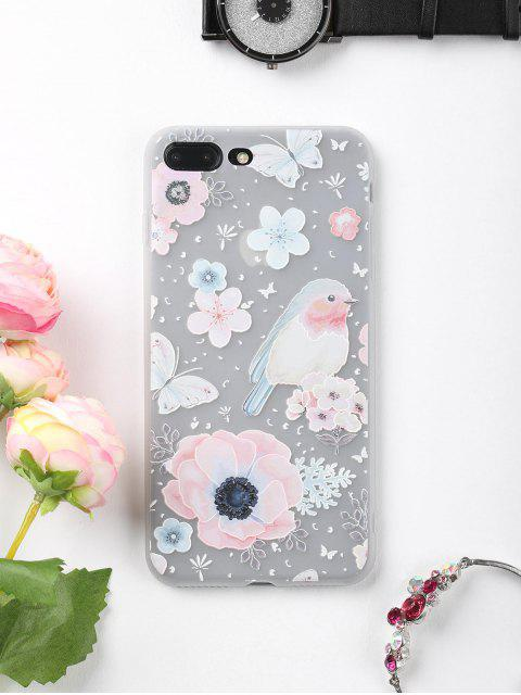 outfit Flowers Bird Pattern Phone Case For Iphone - COLORMIX FOR IPHONE 7 PLUS Mobile