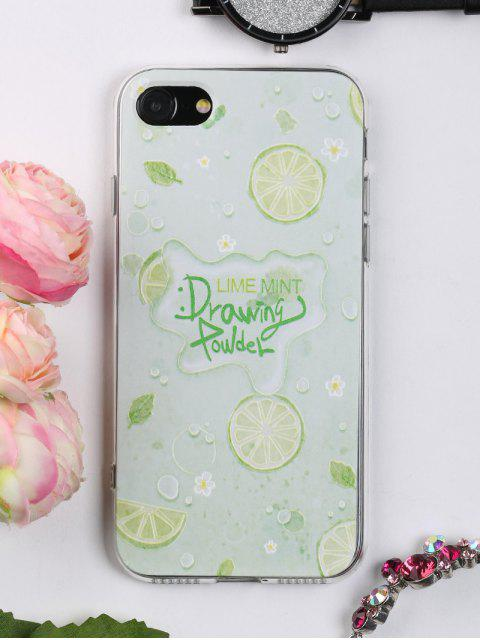 Caja suave del teléfono del patrón de la fruta para Iphone - LIGHT GREEN Por IPHONE 7 Mobile
