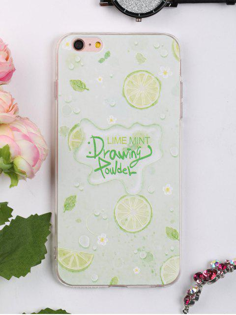 outfit Fruit Pattern Soft Phone Case For Iphone - LIGHT GREEN FOR IPHONE 6 PLUS / 6S PLUS Mobile