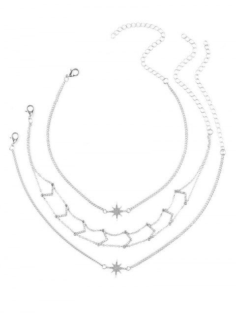 Ensemble Collier Collier Strass Star V - Argent  Mobile