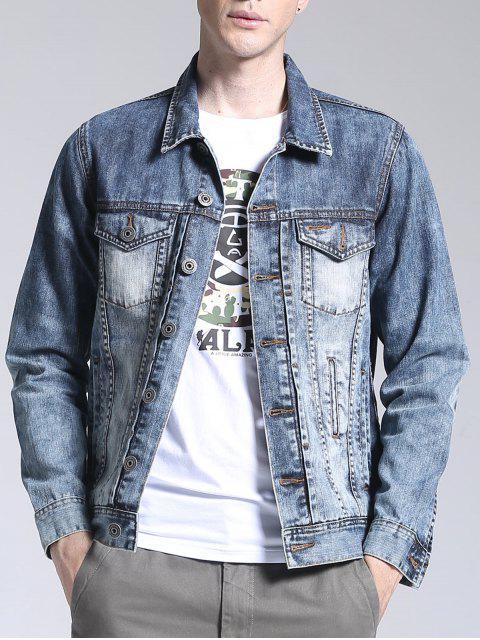 Veste en jean lavable - Bleu clair XL Mobile