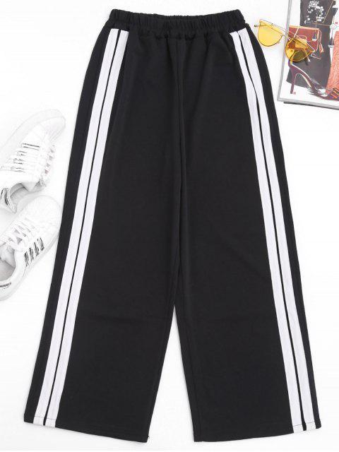 chic Slit Side Stripe Pants - WHITE M Mobile