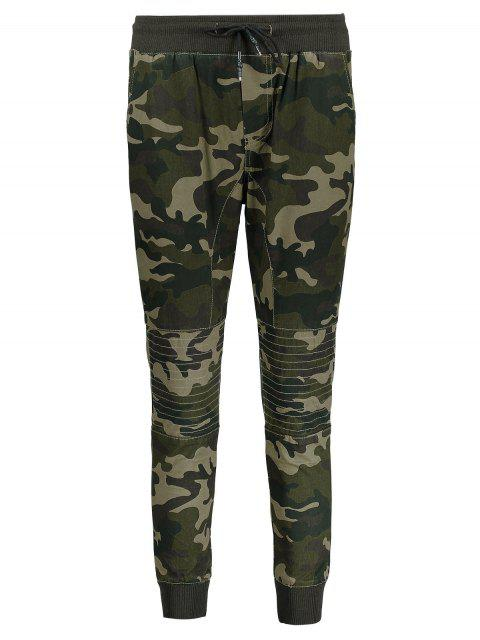 affordable Camo Jogger Pants - ARMY GREEN 3XL Mobile