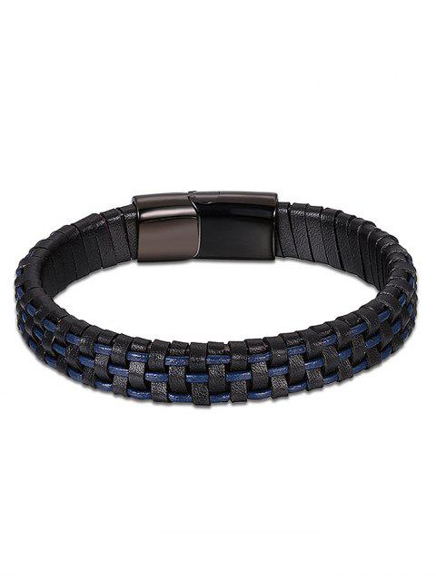 online Cool Artificial Leather Bracelet - BLUE  Mobile