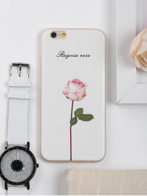 Rosa patrón de flores caso de teléfono para iphone - Blanco PARA IPHONE 6 / 6S Mobile