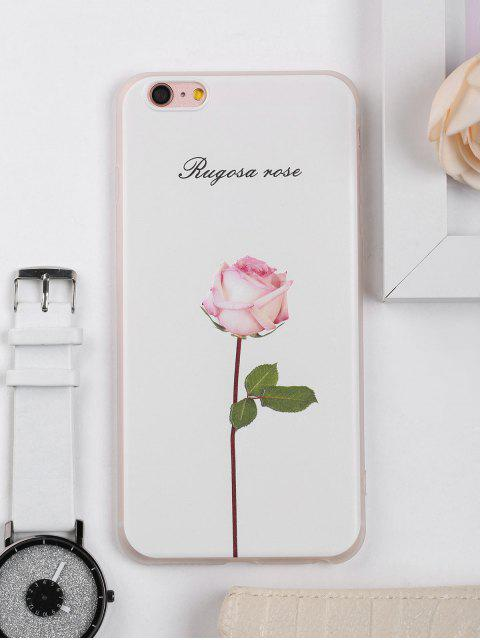 sale Rose Flower Pattern Phone Case For Iphone - WHITE FOR IPHONE 6 PLUS / 6S PLUS Mobile