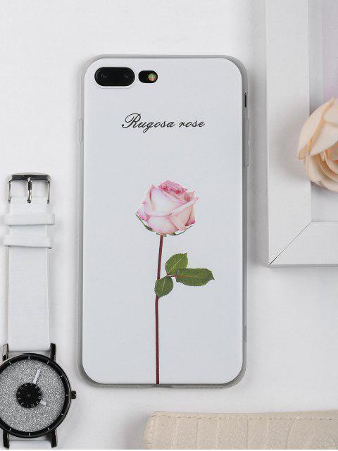 buy Rose Flower Pattern Phone Case For Iphone - WHITE FOR IPHONE 7 PLUS Mobile