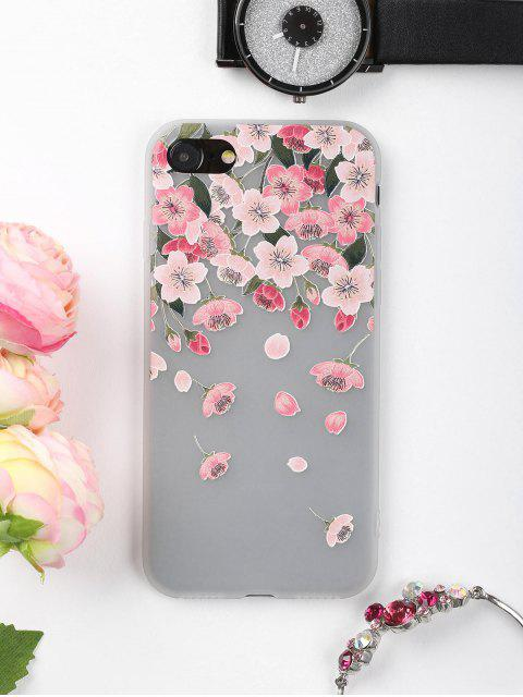 women's Flowers Petals Pattern Phone Case For Iphone - PINK FOR IPHONE 7 Mobile