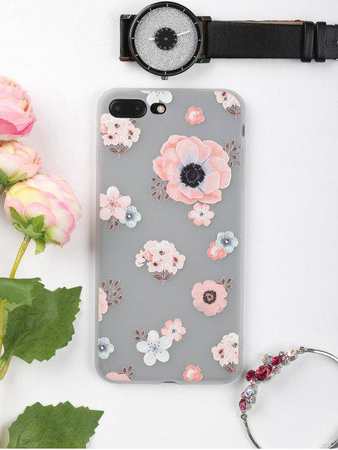 new Floral Pattern Phone Case For Iphone - PINK FOR IPHONE 7 PLUS Mobile