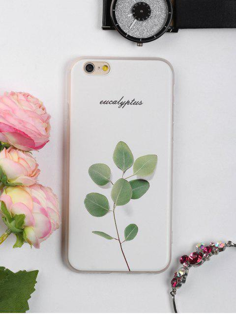 hot Branch Leaf Pattern Phone Case For Iphone - WHITE FOR IPHONE 6 / 6S Mobile