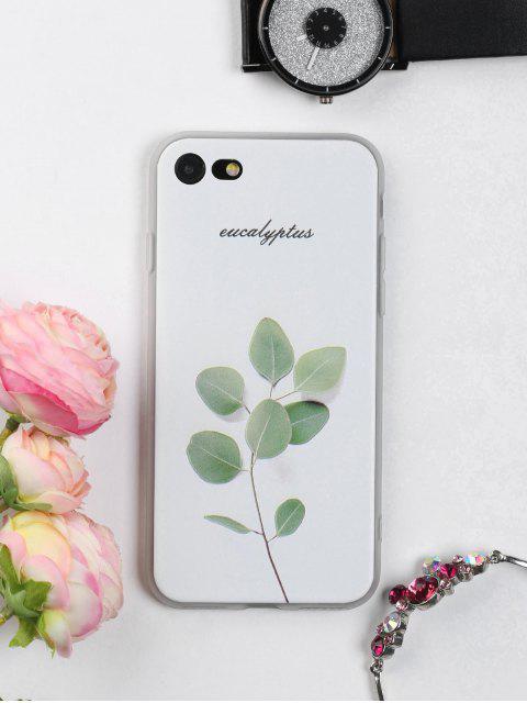 Telefon Fall mit Zweig Blatt Muster für Iphone - Weiß FÜR IPHONE 7 Mobile