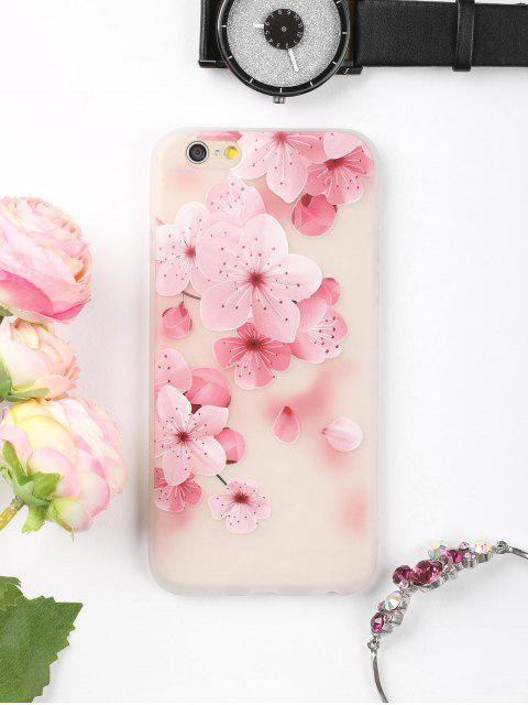 shops Peach Flower Pattern Phone Case For Iphone - PINK FOR IPHONE 6 / 6S Mobile