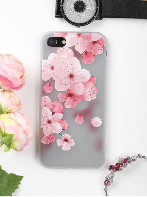 trendy Peach Flower Pattern Phone Case For Iphone - PINK FOR IPHONE 7 Mobile