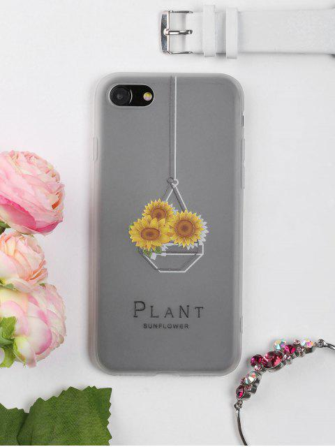 unique Sunflower Pattern Phone Case For Iphone - CLEAR WHITE FOR IPHONE 7 Mobile